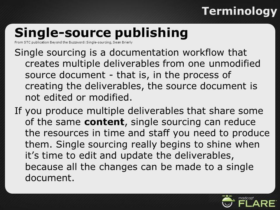 Single-source publishing