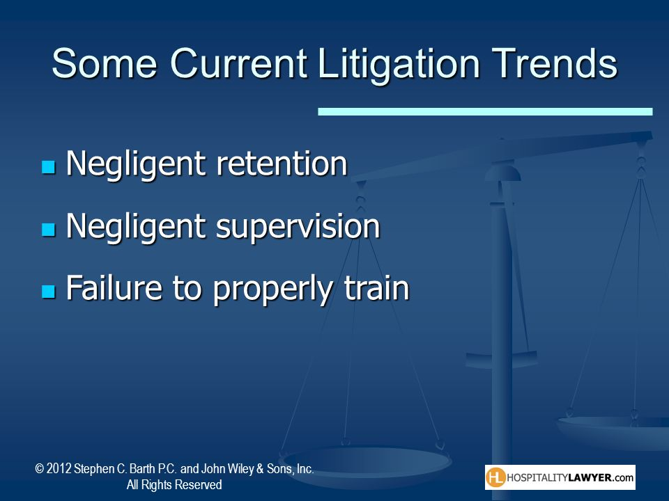 Some Current Litigation Trends