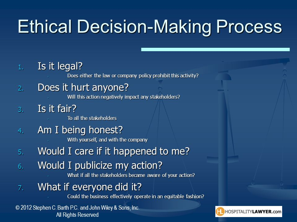 Ethical Decision-Making Process