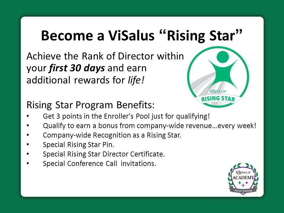 Become a ViSalus Rising Star