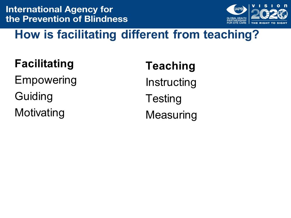 How is facilitating different from teaching
