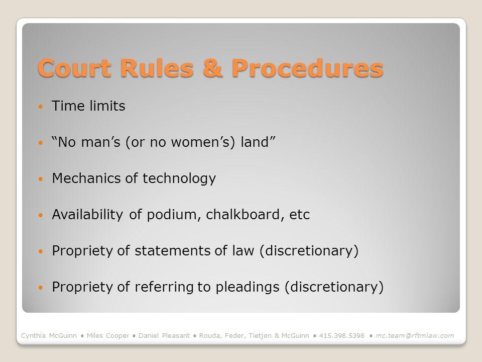Court Rules & Procedures