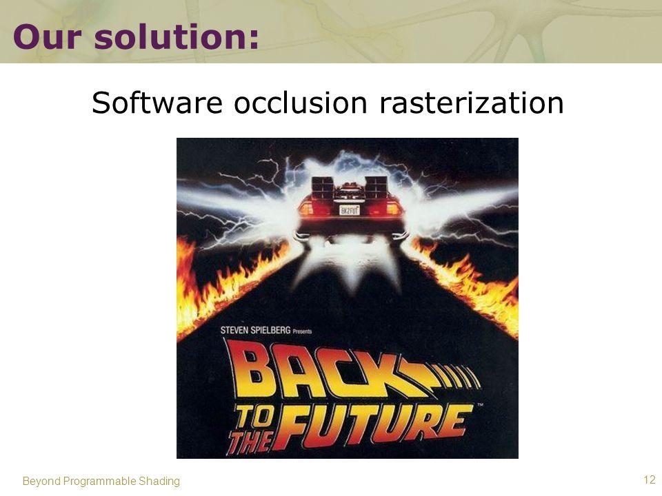 Software occlusion rasterization