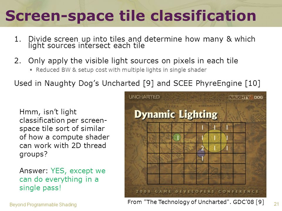 Screen-space tile classification