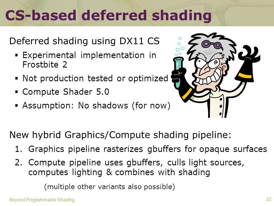 CS-based deferred shading