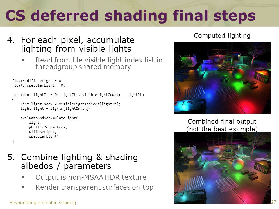 CS deferred shading final steps