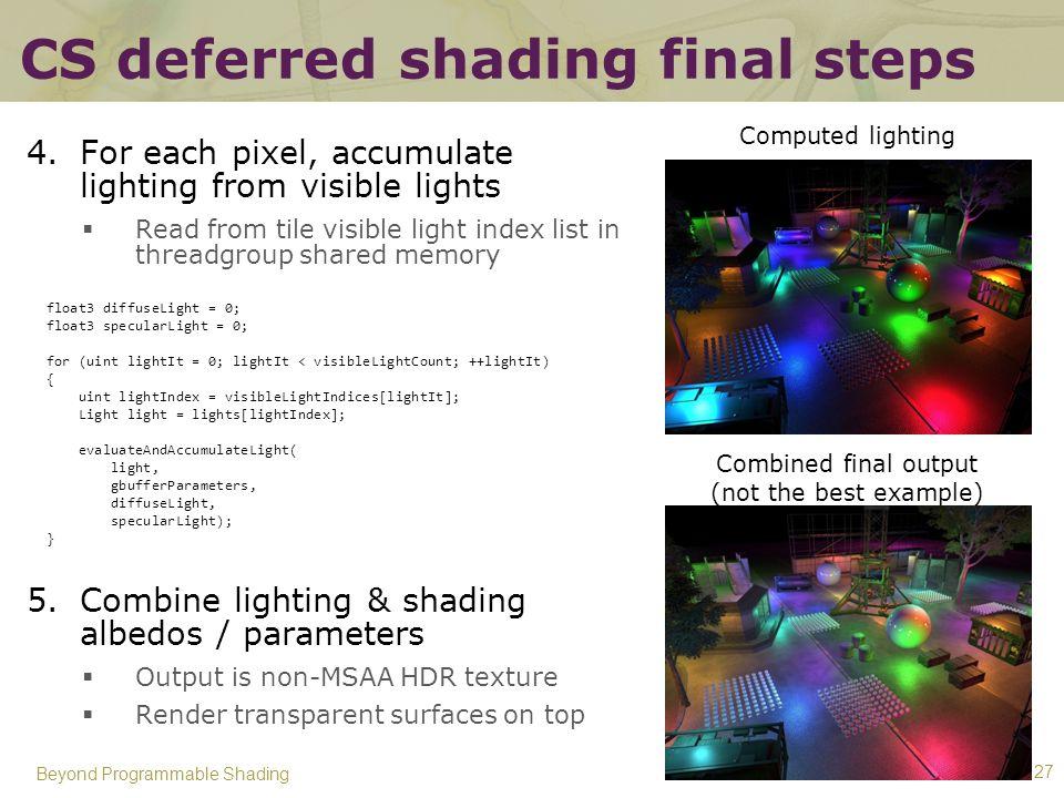 CS deferred shading final steps
