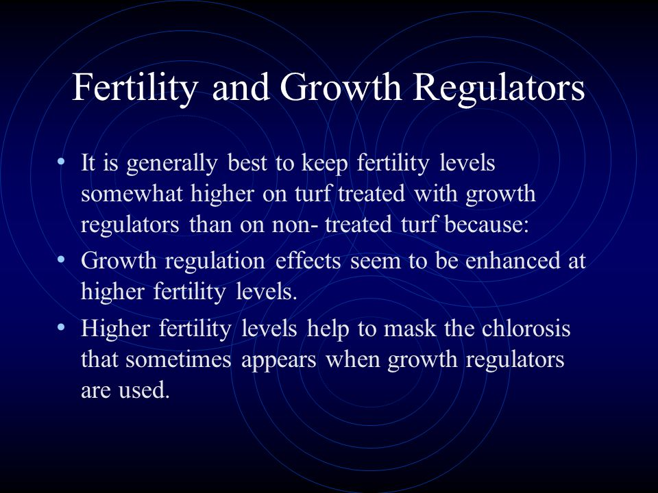Fertility and Growth Regulators