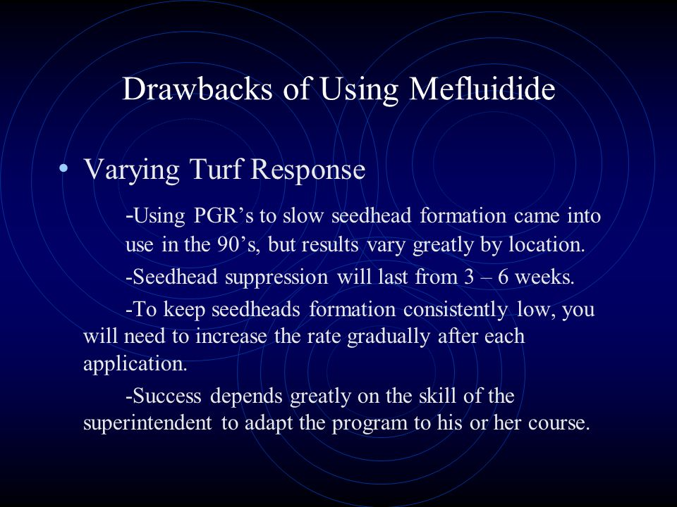 Drawbacks of Using Mefluidide