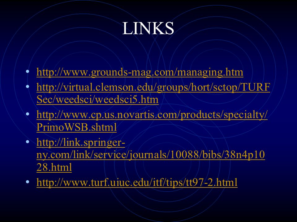 LINKS http://www.grounds-mag.com/managing.htm