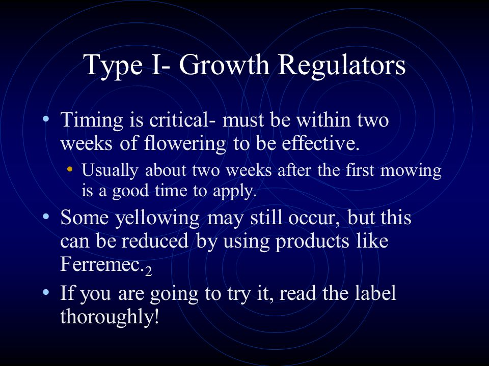 Type I- Growth Regulators