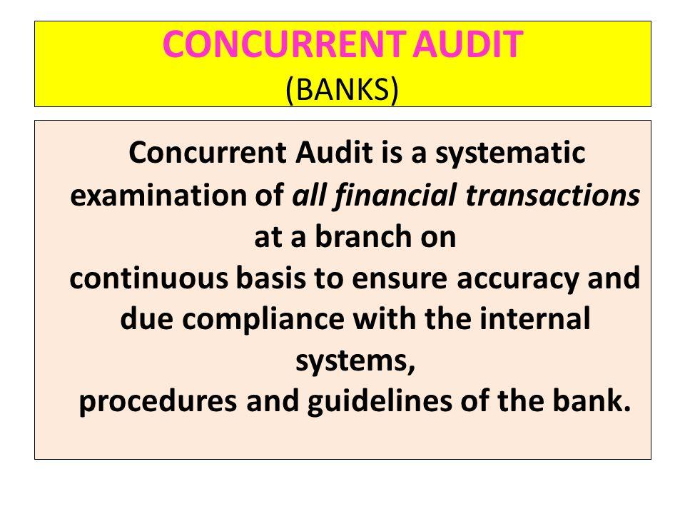 CONCURRENT AUDIT (BANKS)
