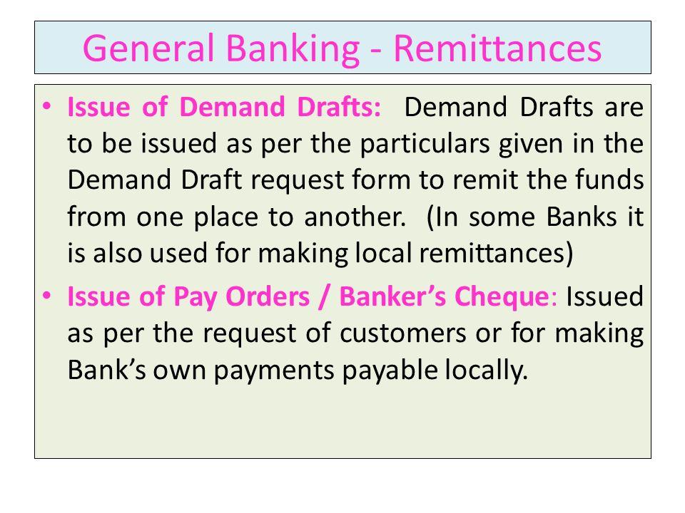 General Banking - Remittances