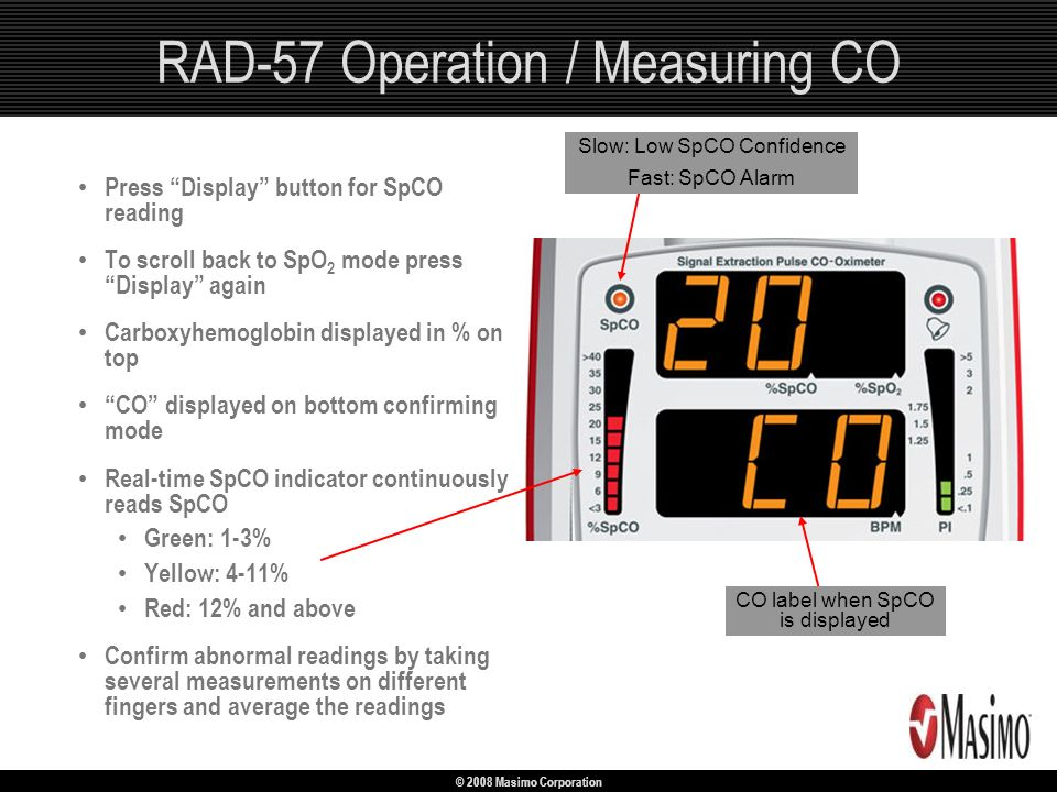 RAD-57 Operation / Measuring CO