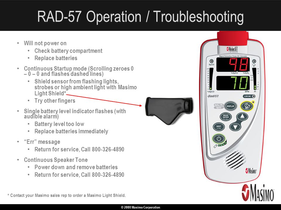 RAD-57 Operation / Troubleshooting