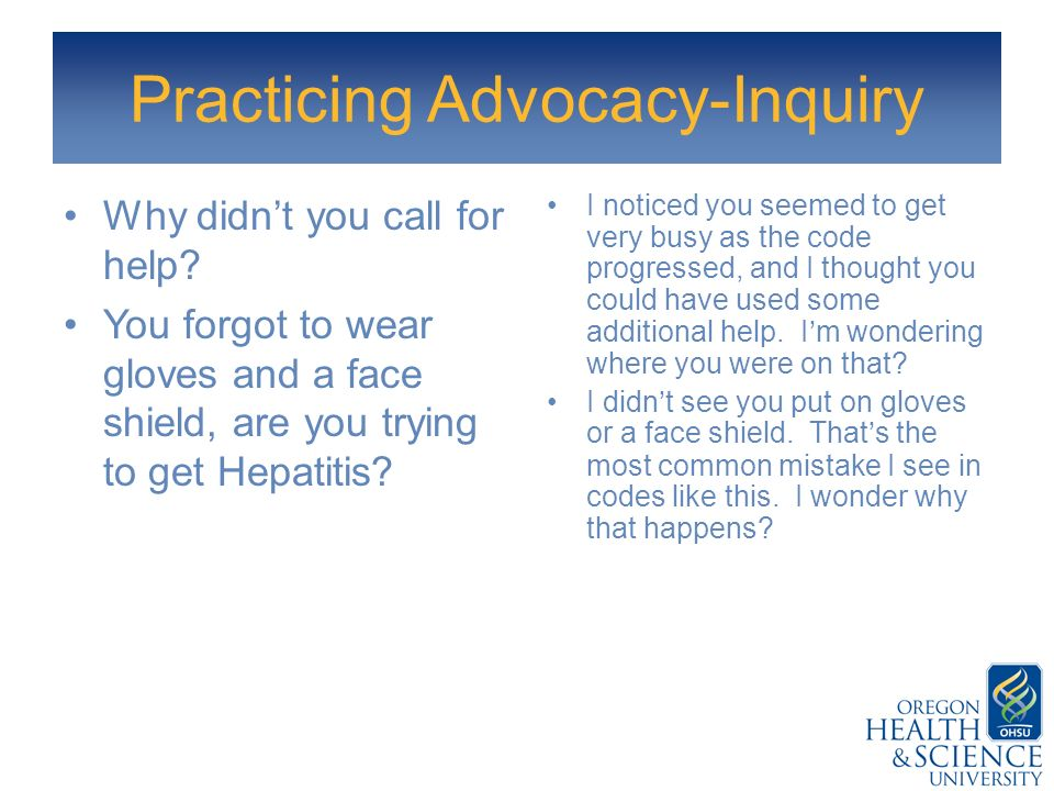 Practicing Advocacy-Inquiry