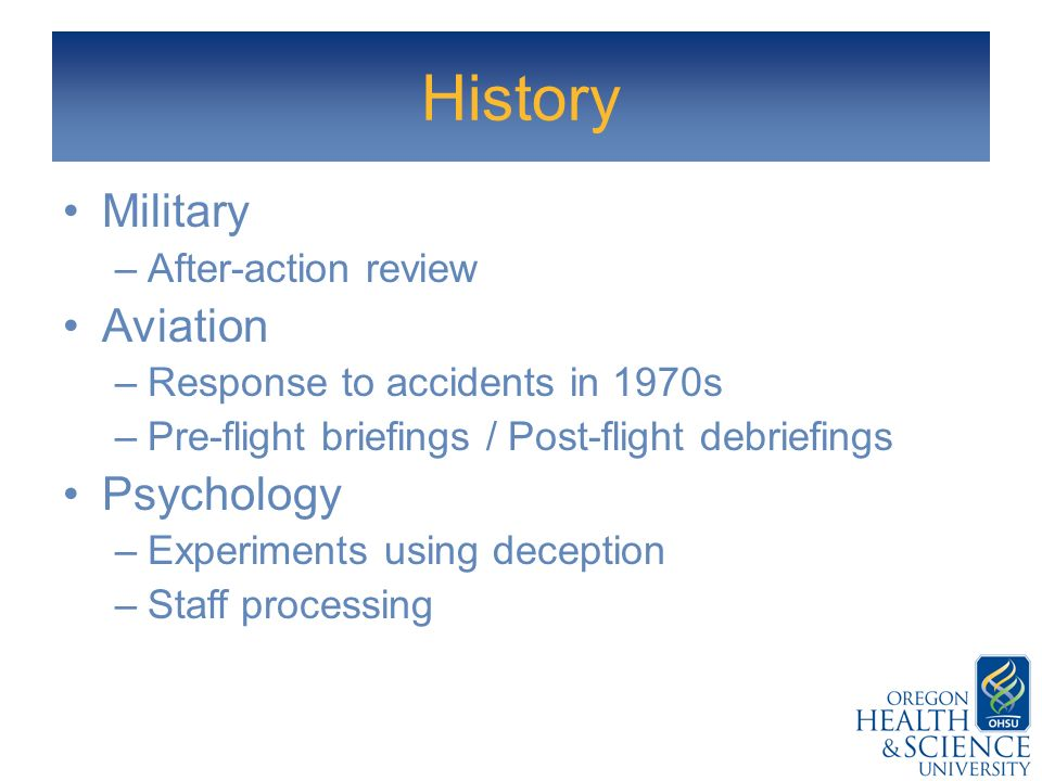 History Military Aviation Psychology After-action review