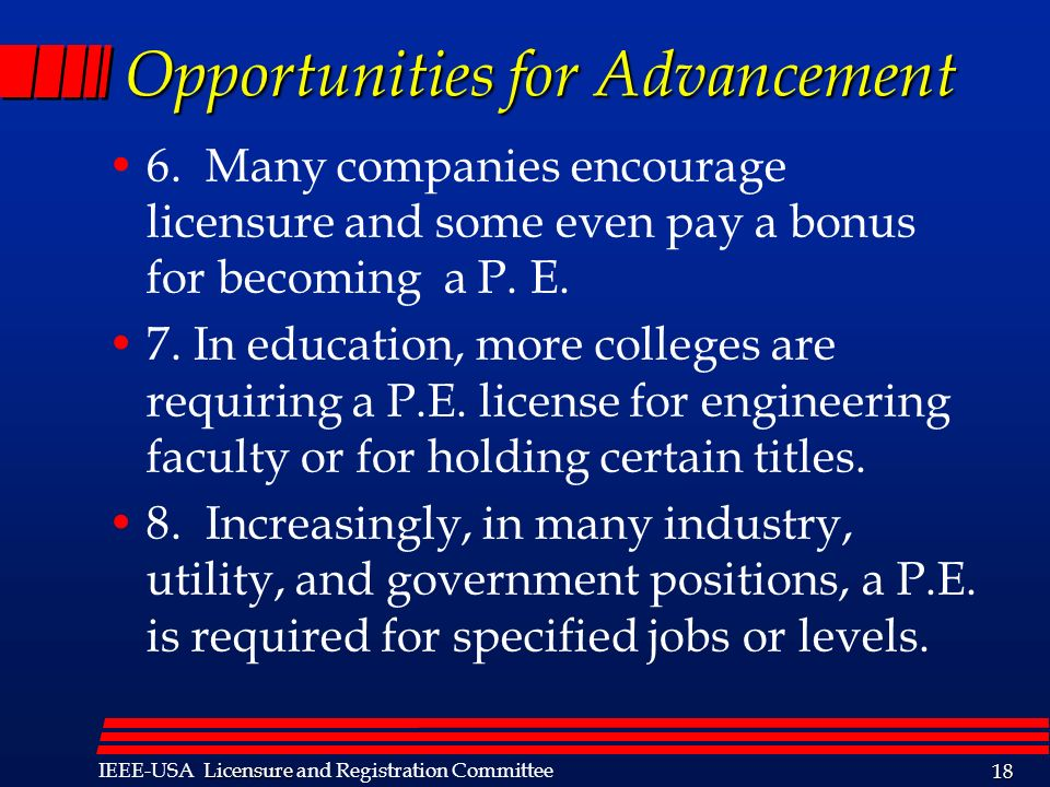 Opportunities for Advancement