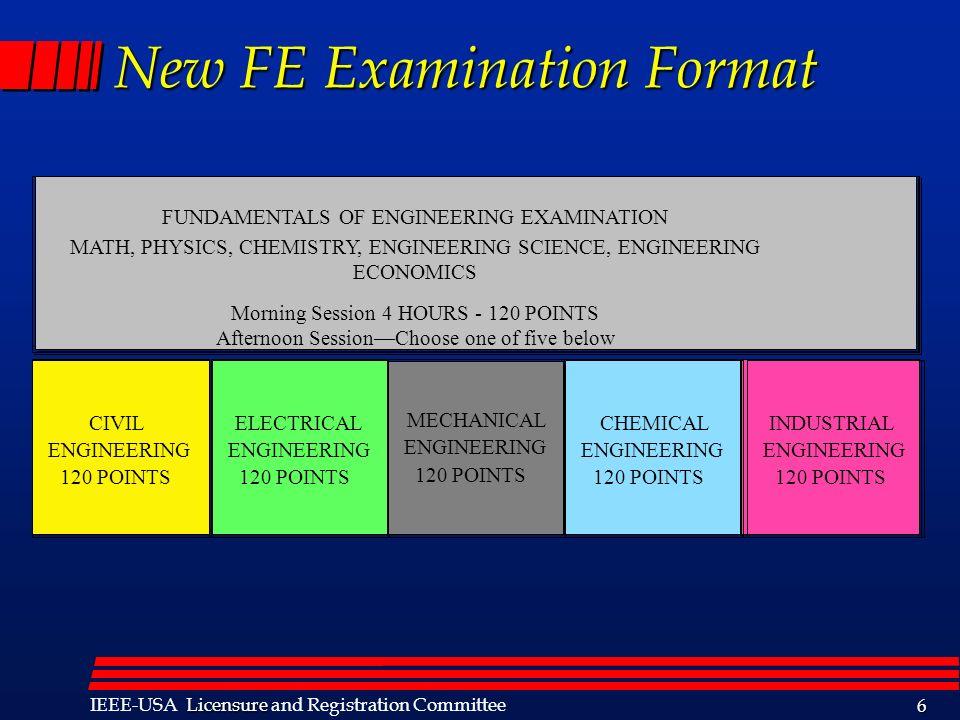 New FE Examination Format
