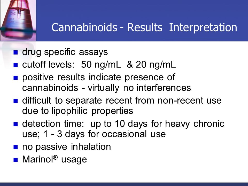 Cannabinoids - Results Interpretation