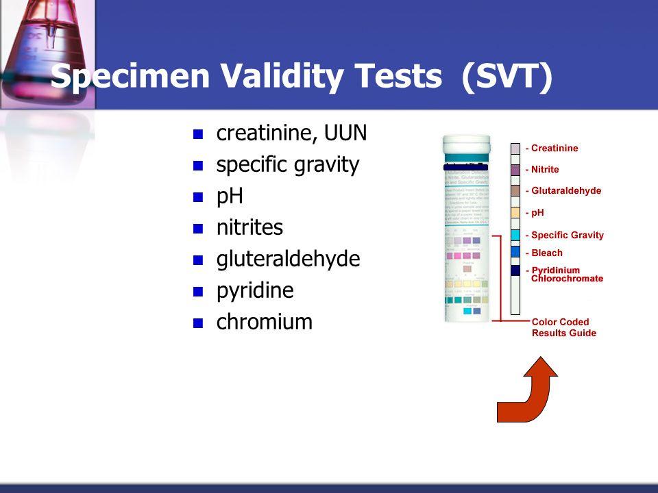 Specimen Validity Tests (SVT)
