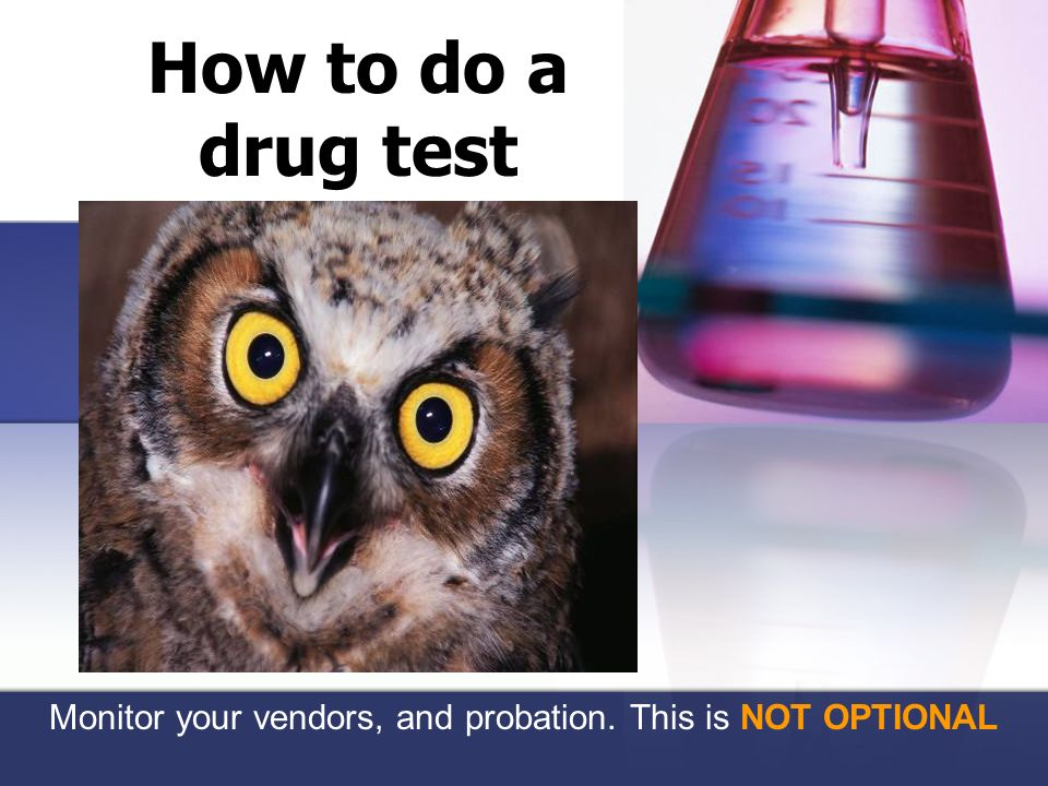 Monitor your vendors, and probation. This is NOT OPTIONAL