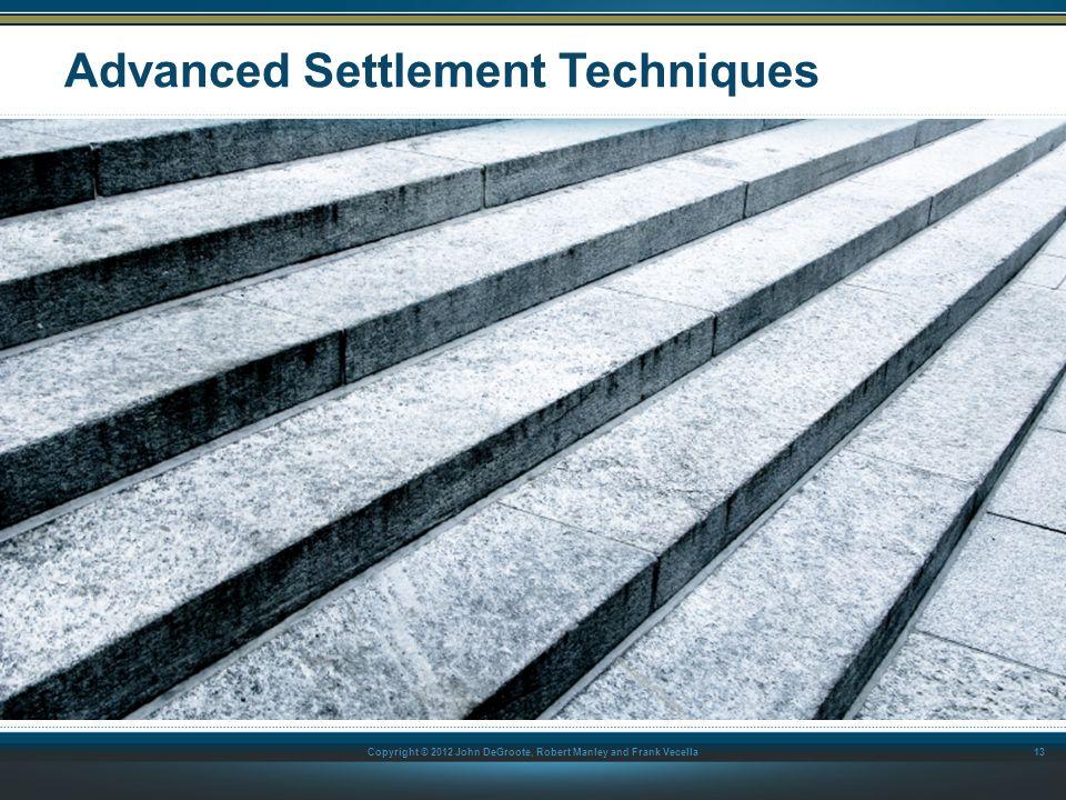 Advanced Settlement Techniques