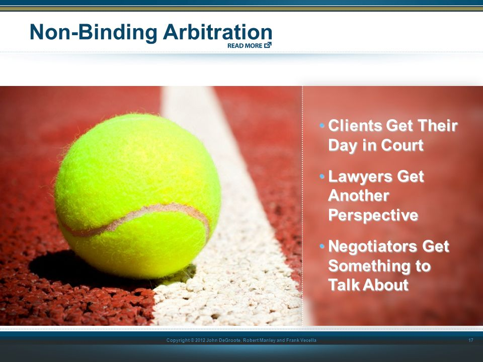 Non-Binding Arbitration
