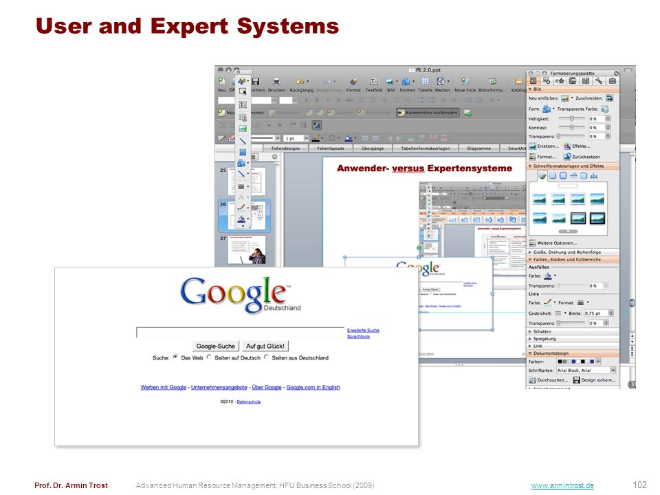 User and Expert Systems