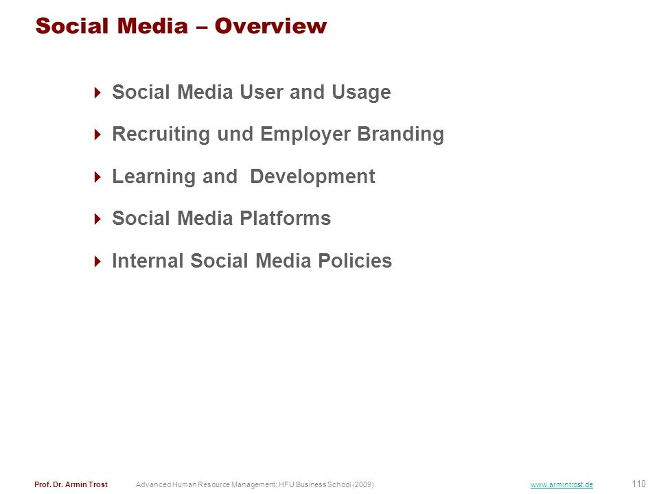 Social Media – Overview