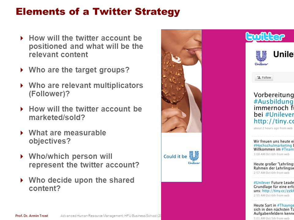 Elements of a Twitter Strategy
