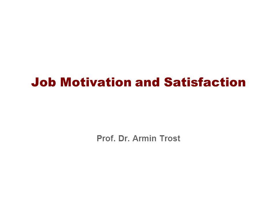 Job Motivation and Satisfaction