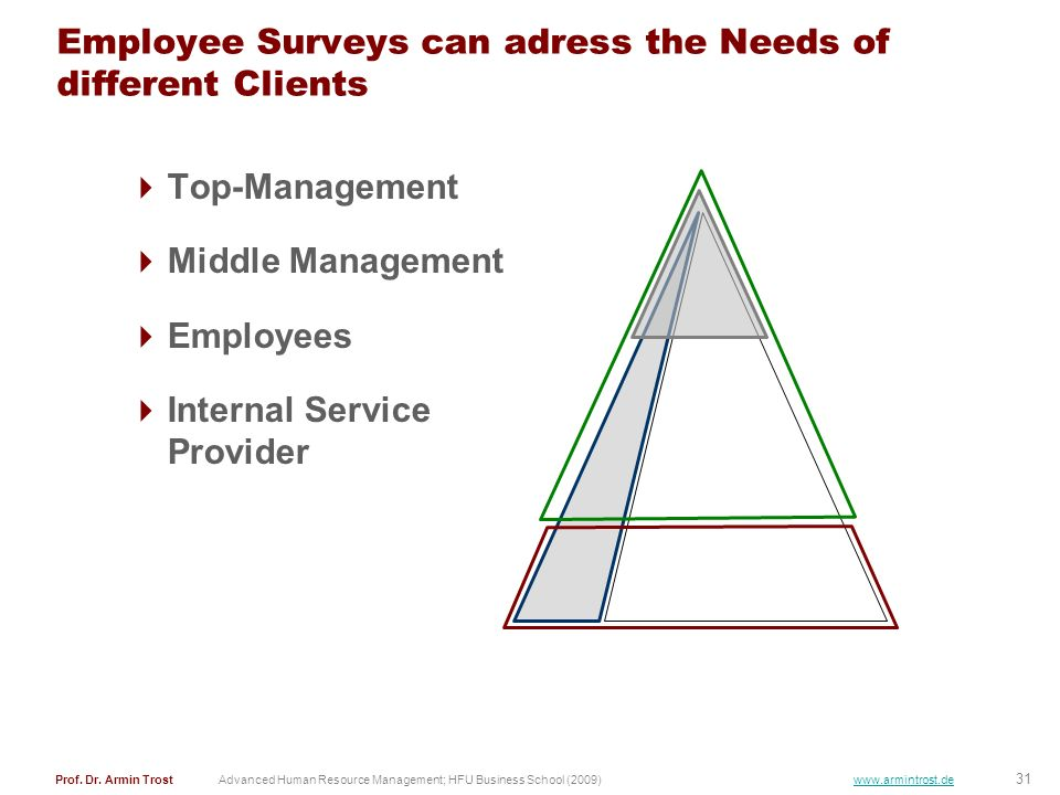 Employee Surveys can adress the Needs of different Clients