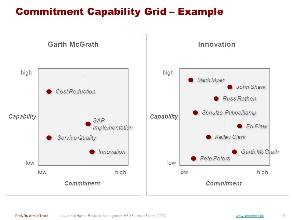 Commitment Capability Grid – Example