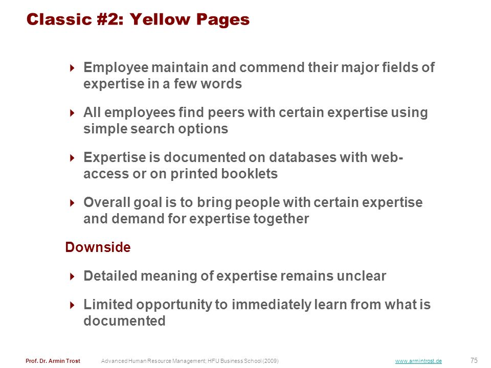 Classic #2: Yellow Pages