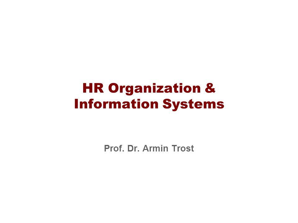 HR Organization & Information Systems