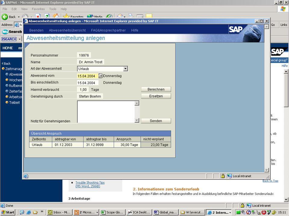 """Screenshot """"Abwesenheitsmitteilung"""