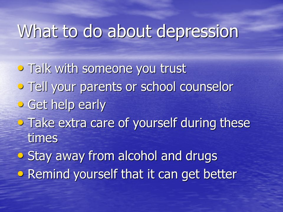 What to do about depression