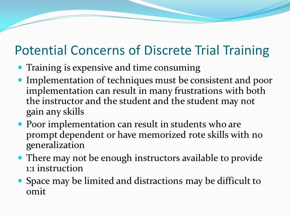 Potential Concerns of Discrete Trial Training