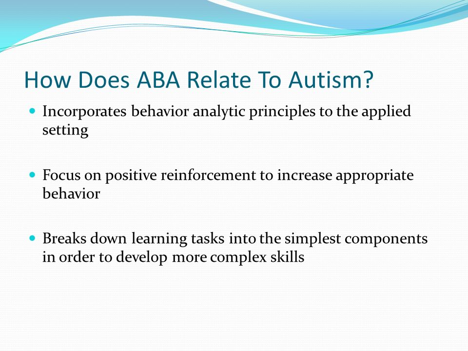 How Does ABA Relate To Autism