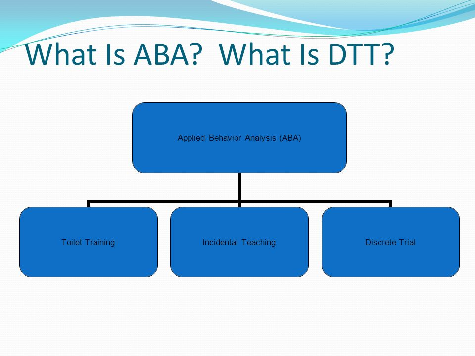 What Is ABA What Is DTT
