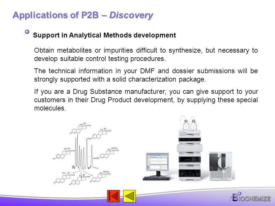 Applications of P2B – Discovery