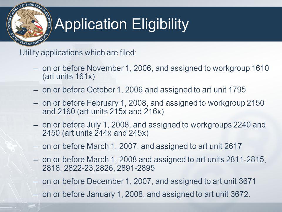 Application Eligibility