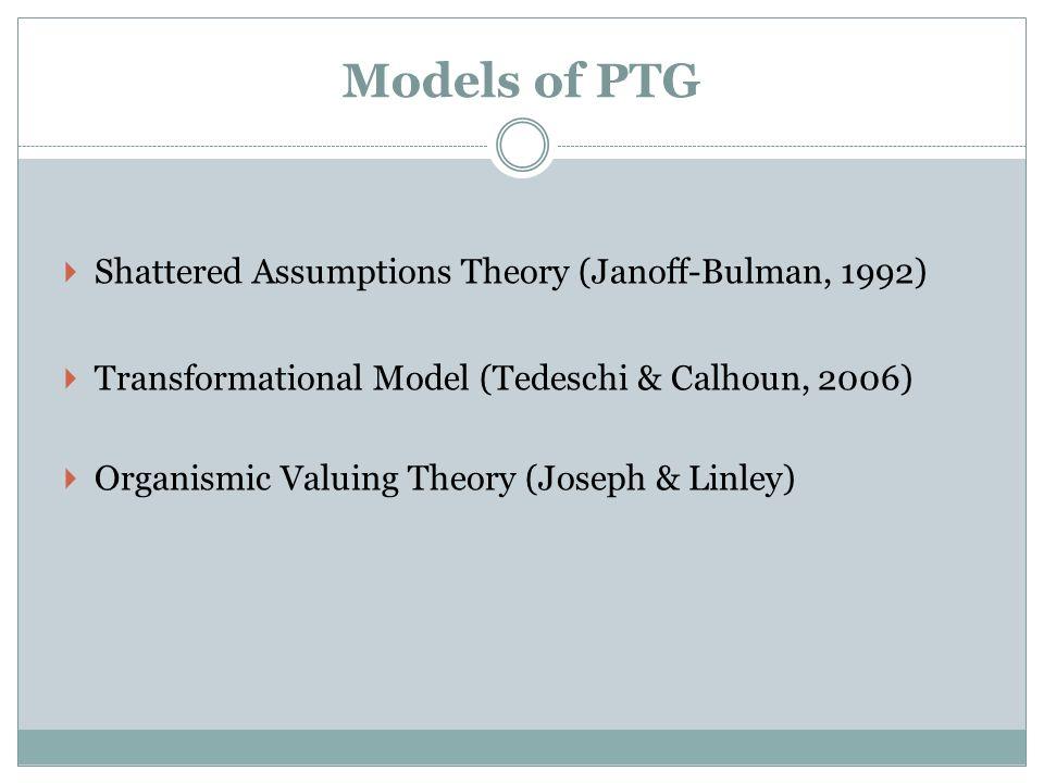 Models of PTG Shattered Assumptions Theory (Janoff-Bulman, 1992)