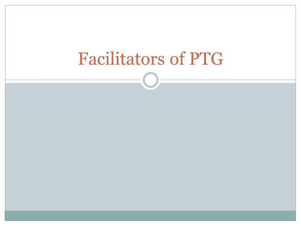 Facilitators of PTG