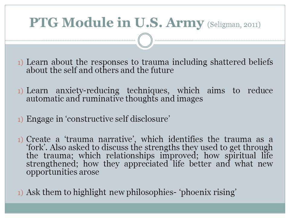 PTG Module in U.S. Army (Seligman, 2011)