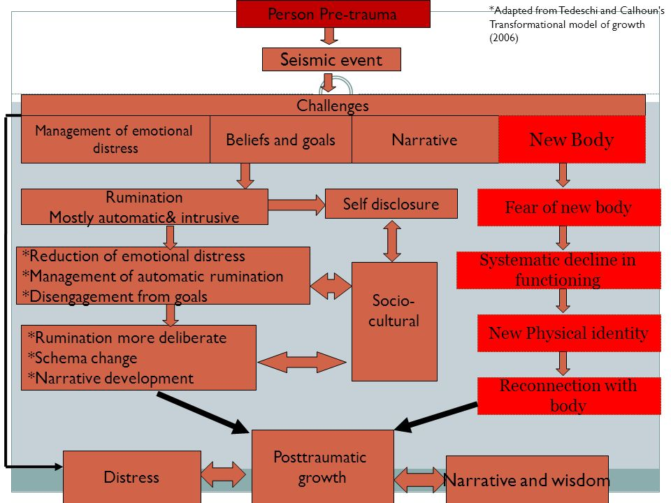 Seismic event New Body Narrative and wisdom Person Pre-trauma