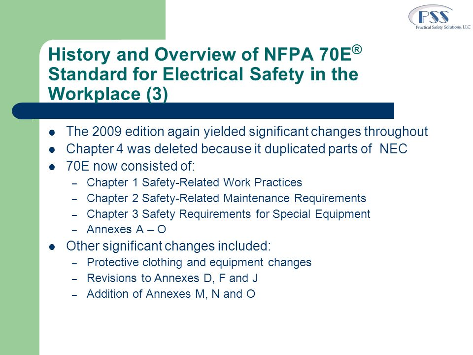 History and Overview of NFPA 70E® Standard for Electrical Safety in the Workplace (3)