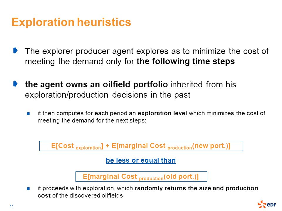 Exploration heuristics