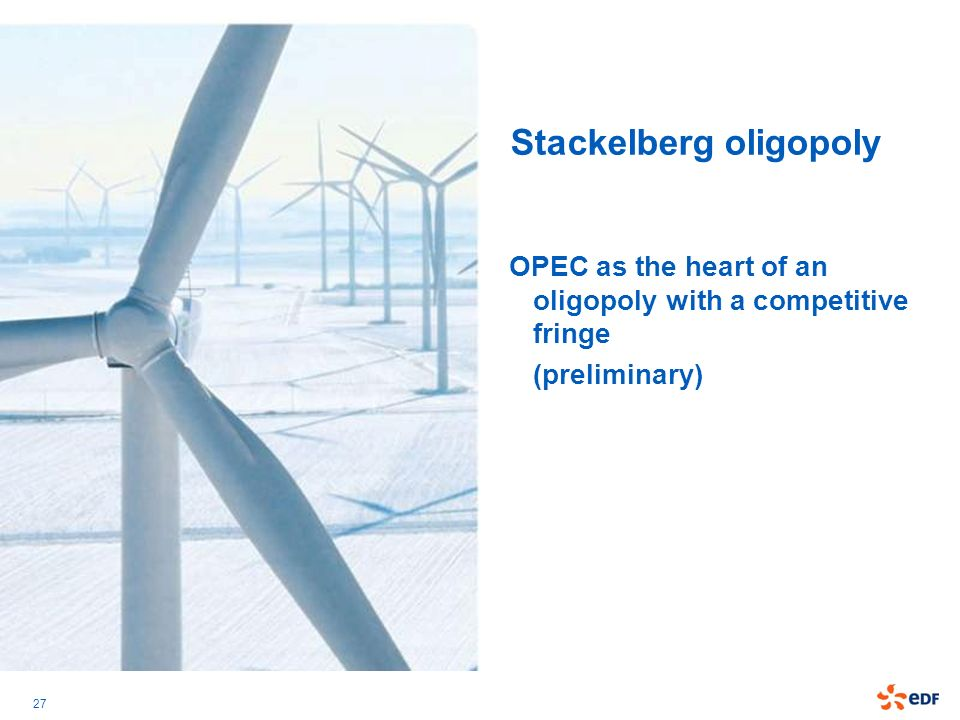 Stackelberg oligopoly